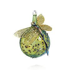 Soft Landing by Loy Allen (Art Glass Ornament)