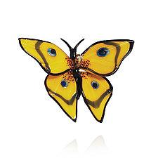 Yellow Swallowtail by Loy Allen (Art Glass Ornament)