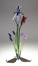 Spring Bouquet by Loy Allen (Art Glass Sculpture)