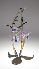 Dendrobium by Loy Allen (Art Glass Sculpture)