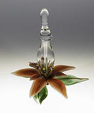 Poinsettia Bottle by Loy Allen (Art Perfume Bottle)