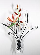Tropical Bouquet by Loy Allen (Art Glass Wall Sculpture)