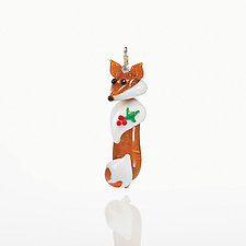 Foxy Lady by Suzanne Weatherman (Art Glass Ornament)