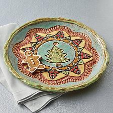 Noelle Plate by Laurie Pollpeter Eskenazi (Ceramic Platter)