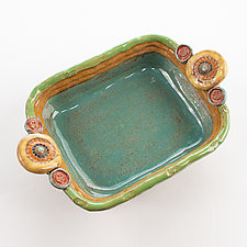 Small 3 Button Baker by Laurie Pollpeter Eskenazi (Ceramic Casserole)