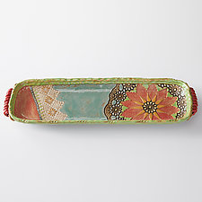 Viola Long Boat by Laurie Pollpeter Eskenazi (Ceramic Serving Piece)