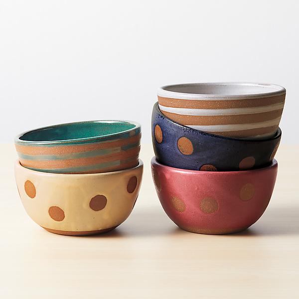 Small Stripe and Dot Bowls