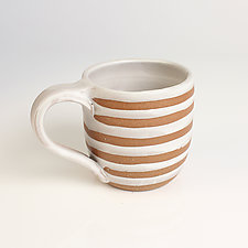 Stripe & Dot Mugs by Louise Bilodeau (Ceramic Mug)