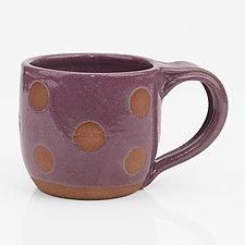 Stripe and Dot Mugs by Louise Bilodeau (Ceramic Mug)