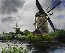 Kinderdijk by Terrece Beesley (Watercolor Painting)