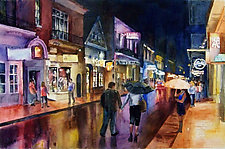 Strolling After Hours by Terrece Beesley (Watercolor Painting)