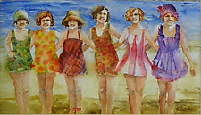 Party on the Beach by Terrece Beesley (Watercolor Painting)