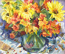 Sunflower Jubilee by Terrece Beesley (Watercolor Painting)