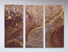 Earth Flow by Michael Solomon (Mixed-Media Painting)