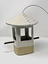 White Bird Feeder by Cheryl Wolff (Ceramic Bird Feeder)