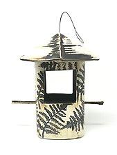 Fern Leaf Bird Feeder by Cheryl Wolff (Ceramic Bird Feeder)