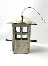 Textured Bird Feeder II by Cheryl Wolff (Ceramic Bird Feeder)