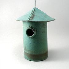 Stoneware Bird House by Cheryl Wolff (Ceramic Birdhouse)