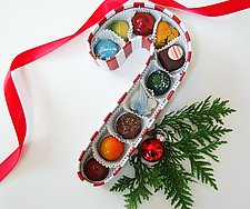 Candy Cane Chocolate Box by Infusion Chocolates (Artisanal Chocolate)
