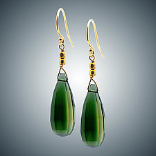 Vassonite Earrings by Judy Bliss (Gold & Stone Earrings)