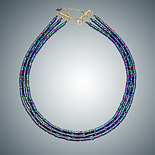 Multi-Color Titanium Necklace by Judy Bliss (Gold & Stone Necklace)