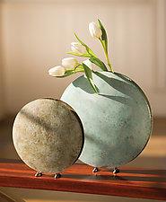Moon Vase by David M Bowman and Reed C Bowman (Metal Vase)