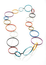 Multicolored Circle Necklace by Donna D'Aquino (Metal Necklace)