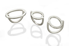 Oval & Circle Rings by Donna D'Aquino (Silver Ring)