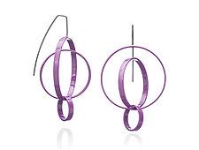 Three Circle Earrings by Donna D'Aquino (Brass Earrings)