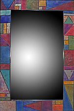 Firescale Triangle Mirror by Kim Eubank (Metal Mirror)