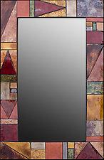 Triangulation by Kim Eubank (Art Glass Mirror)