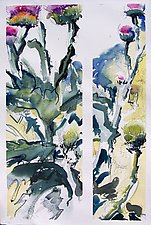 Scotch Thistle by Alix Travis (Watercolor Painting)