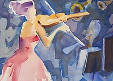 Violin Performance by Alix Travis (Watercolor Painting)