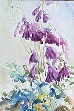 Purple Columbine by Alix Travis (Watercolor Painting)