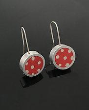Polka Dot Earrings by Melissa Stiles (Silver & Resin Earrings)