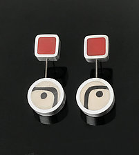Double Hung Picasso Earrings by Melissa Stiles (Aluminum Earrings)