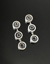 Three Swirl Drop Earrings by Melissa Stiles (Aluminum Earrings)