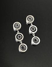 Three Swirl Drop Earrings by Melissa Stiles (Aluminum Earrings)