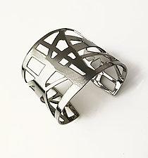 Highway Cuff Bracelet by Melissa Stiles (Steel Bracelet)