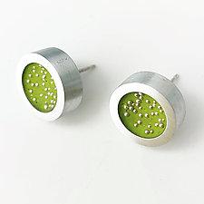 Galaxy Post Earrings by Melissa Stiles (Silver & Resin Earrings)