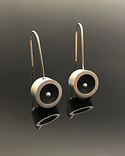 Round Pearl Earrings by Melissa Stiles (Aluminum & Resin Earrings)