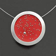 Galaxy Pendant Necklace by Melissa Stiles (Metal & Resin Necklace)