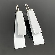 Zaha Earrings by Melissa Stiles (Silver & Steel Earrings)
