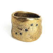 Bronze Five-Diamond Ring by Ann Chikahisa (Diamond & Bronze Ring)