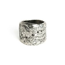 Silver Five-Diamond Ring by Ann Chikahisa (Silver & Stone Ring)