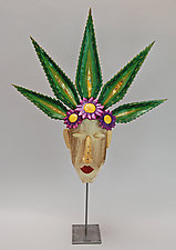 Desert Flower No. 2 by Elizabeth Frank (Wood Sculpture)