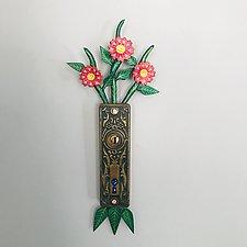 Secret Garden Talisman No. 5 by Elizabeth Frank (Wood & Metal Wall Sculpture)
