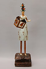 Grace by Elizabeth Frank (Wood Sculpture)