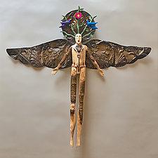 Earth Angel by Elizabeth Frank (Wood Wall Sculpture)