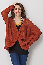 Long Sleeve Twist Front Sweater by Amy Brill Sweaters (Knit Sweater)